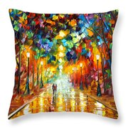 Farewell To Anger Throw Pillow by Leonid Afremov
