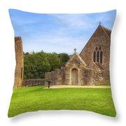 Farleigh Hungerford Castle Throw Pillow