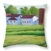 Farm At Willow Creek Throw Pillow