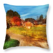 Farm - Barn -  A Walk In The Country Throw Pillow