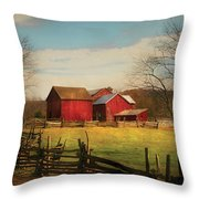 Farm - Barn - Just Up The Path Throw Pillow