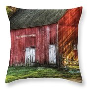 Farm - Barn - The Old Red Barn Throw Pillow
