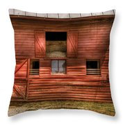 Farm - Barn - Visiting The Farm Throw Pillow