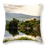 Farm By The Connecticut Throw Pillow