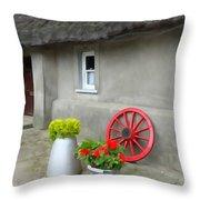 Farm Cottage Throw Pillow