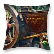 Farm Equipment - New Holland Feed And Cob Mill Throw Pillow by Paul Ward