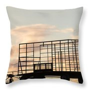 Farm Equipment At Sunset Throw Pillow