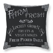 Farm Fresh Sign Throw Pillow