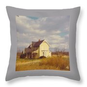 Farm House And Landscape Throw Pillow