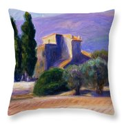 Farm House In Provence Throw Pillow