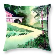 Farm House New Throw Pillow by Anil Nene