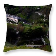 Farm Land In The Peak District In Great Britain Throw Pillow