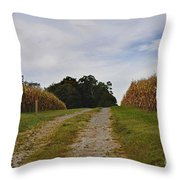 Farm Lane Throw Pillow