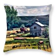 Farm Look Throw Pillow
