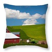 Farm Machinery Throw Pillow