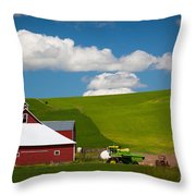 Farm Machinery Throw Pillow by Inge Johnsson