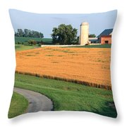 Farm Nr Mountville Lancaster Co Pa Usa Throw Pillow