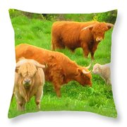 Farm - Pasture - Meadow Throw Pillow