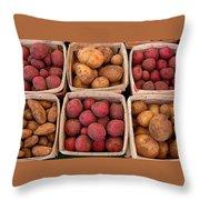 Farm Potatoes Throw Pillow