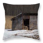 Farm Shed Throw Pillow