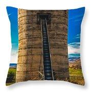 Farm Silo Throw Pillow