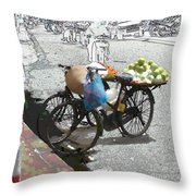 Farm Stand Throw Pillow by Jack Gannon