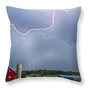 Farm Storm Hdr Throw Pillow