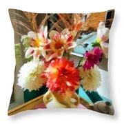 Farm Table Bouquet Throw Pillow