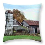 Farm - The Old Barn Throw Pillow
