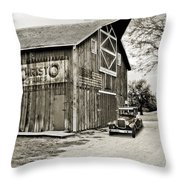 Farm Transport Throw Pillow