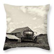Farm Truck - 1941 Chevy In Sepia Throw Pillow