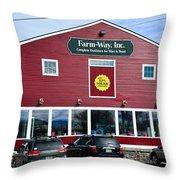 Farm- Way  Www.vermontgear.com Throw Pillow
