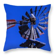 Farm Windmill Throw Pillow