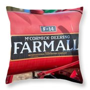 Farmall F-14 Tractor I Throw Pillow by Clarence Holmes