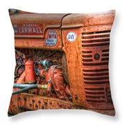 Farmall Tractor Throw Pillow by Bill Wakeley