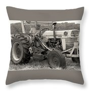 Farmer And His Tractor Throw Pillow