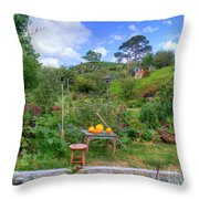 Farmer Maggot Garden Throw Pillow