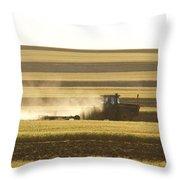 Farmer Working Throw Pillow