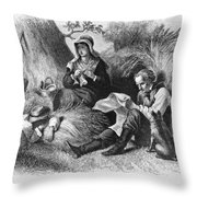 Farmers, 1872 Throw Pillow