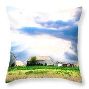 Farmer's Field At Sundown Throw Pillow