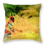 Farmers Fields Harvest India Rajasthan 1a Throw Pillow