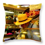 Farmer's Market At Reading Terminal Throw Pillow