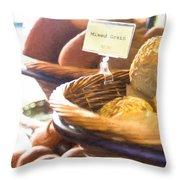 Farmer's Market Fresh Bread Throw Pillow