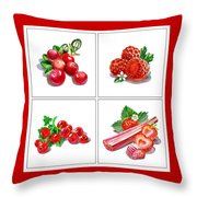 Farmers Market Gifts Red Vitamins Throw Pillow