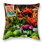 Farmer's Market Throw Pillow