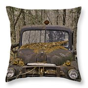 Farmers Old Work Truck Throw Pillow