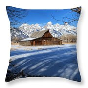 Farmers View Throw Pillow