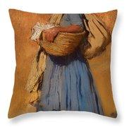 Farmer's Wife Throw Pillow