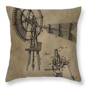 Farmer's Windmill Throw Pillow
