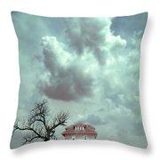 Farmhouse And Tree Throw Pillow